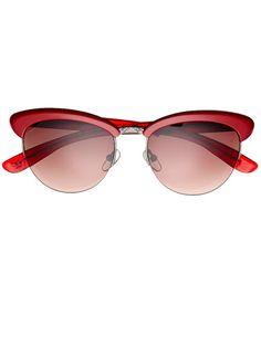 Bottega Veneta Sunglasses - Best Accessories For June And July Summer - Harper S Bazaar Ohhhhh Red!