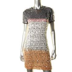 DIANE VON FURSTENBERG NEW Barbie Multi Silk Short Sleeves Cocktail Dress 10 BHFO