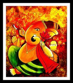Lord Ganesha Paintings, Ganesha Art, Krishna Art, Ganesh Lord, Lord Shiva, Art Forms, Creative Art, Fine Art America, Folk Art