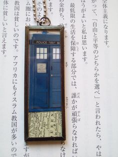 Dr Who Double Sided Original Collage Frame Pendant by thewhoporium, $15.00