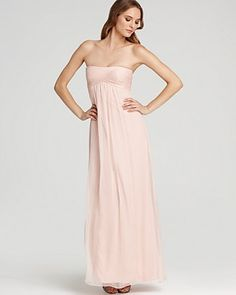 Amsale Strapless Empire Gown - Bridesmaids - Ceremony - The Wedding Shop - LOOKBOOKS - Fashion Index - Bloomingdale's