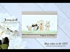 We Must Celebrate watercolor card using Stampin Up products with Jenny Hall - YouTube