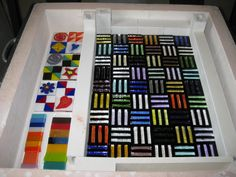 Calyx Glass Blog: Fused Glass at the LUX - Session 3 - Frit ...