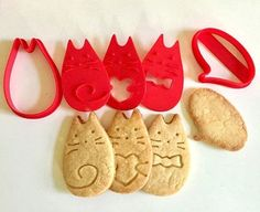 Chat Cookie Cutter Cookie timbre chat 3D Bake imprimé Message
