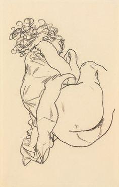 Afbeelding Egon Schiele - Liegende I
