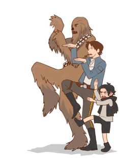 Chewie, Han and Ben! They are so adorable