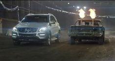 Funny Mercedes M-Class Demolition Derby Car Race!! #mercedes #mclass #offroad #vehicle #demolitionderby #race #dirt #car #benz #4x4 #demolition #stockcar