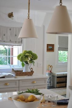 I& so excited to finally share this charming kitchen with you! The homeowners, Matt and Katie, are best friends and neighbors of ours . Cottage Kitchens, Farmhouse Kitchen Decor, Home Kitchens, Kitchen Vignettes, Cosy Kitchen, Country Kitchen, Light Kitchen Cabinets, Gray Cabinets, Kitchen Tile