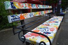 Art ławki w Kijowie.