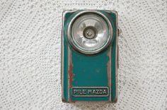 Vintage French Mazda flashlight Mazda torch 1950s by LaCroixRosion