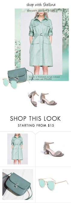 """""""Shop with Stellina: mint-green"""" by stellina-from-the-italian-glam ❤ liked on Polyvore featuring shirtdress, mintgreen and under100"""