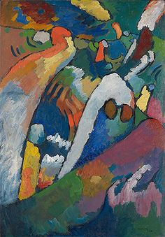 Title: Improvisation No. 7 (Storm), 1910 Artist: Wassily Kandinsky Medium: Hand-Painted Art Reproduction