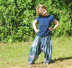 harem pants free pattern in size 6