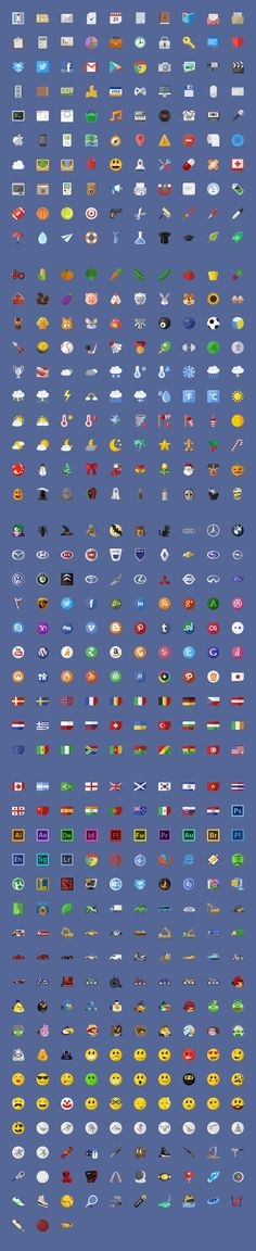 I started this icon set for fun, but it turned out really well and we decided to go on. Right now there are 637 icons included, 100% vectorial and scalable. I plan to make it the biggest flat icon set on the web so will be adding 20+ icons every week and those who purchased the set, will get them for free #design Download: https://creativemarket.com/EpicShop/6021-640-Flat-iconsPixelDropr?u=ksioks