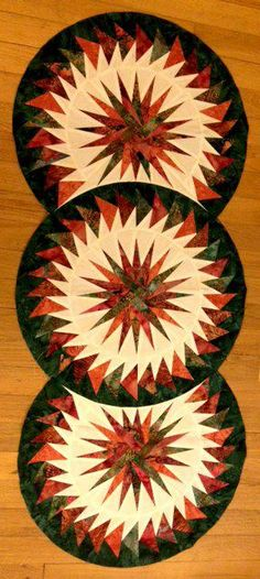 Seasonal Table Runner ~ Quiltworx.com, made by Certified Instructor, Ginny Radloff