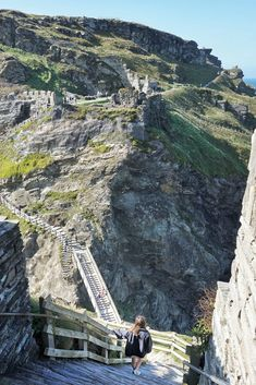 Tintagel Castle: North Cornwall Coast, Southwest England, Home to a medieval settlement and legendary seat of king arthur