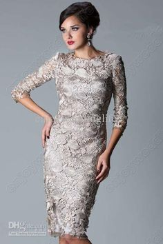Wholesale Formal Dresses - Buy 2013 Sexy Long Sleeveless Knee Length Formal Dresses Lace Sheath Mother Of The Bride Dresses W041, $119.0   DHgate