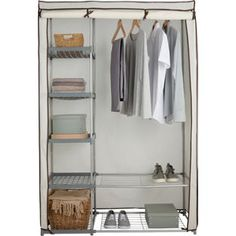 Buy Metal and Polycotton Double Wardrobe - Cream at Argos.co.uk, visit Argos.co.uk to shop online for Wardrobes
