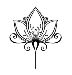 Image result for silhouette tattoo flower