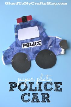 Paper Plate Police Car - Kid Craft - Glued To My Crafts