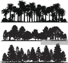 Arte vectorial : Forest silhouettes