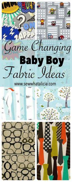 Game Changing Baby Boy Fabric Ideas | www.sewwhatalicia.com