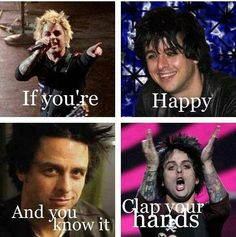 Billie Joe Armstrong - Green Day oh my god. Bottom left photo. He's so perfect
