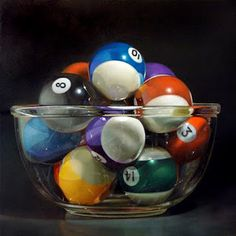 Paintings in Oil: Pool Bowl No. 16