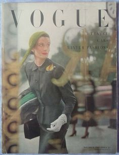 Vintage Vogue cover by Cecil Beaton, April 1949. Description from pinterest.com…