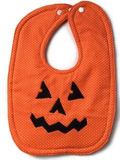 Halloween Bib Pumpkin Bib Jack O Lantern Bib Fall Bibs