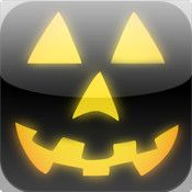 Crazy Pumpkin app--virtual jack-o'-lantern, change colors, features, SPOOKY MUSIC TOO.