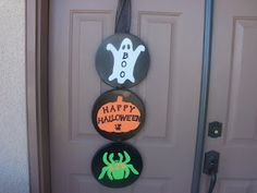 Halloween Decor made from Burner Covers