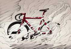 SuperBike Me! by Alex Ferreiro, via Behance Fixi Bike, Bicycle Art, Road Bike, Bici Fixed, Bicycle Tattoo, Cycling Tattoo, Graffiti, Bike Illustration, Bike Poster