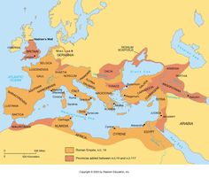 A referenced map of the roman empire at its greatest extent map of roman empire c can be used with story of the world blank map chapter 34 gumiabroncs Gallery
