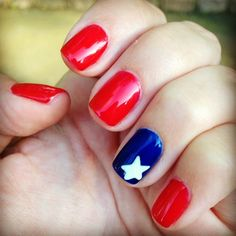 jess_conrado's 4th of July nail inspo. Tag yours with #SephoraNailspotting for the chance to be featured! #Sephora #nails #nailpolish