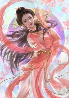 Read quality translation of Fragrance Beauty at Flying Lines. Fantasy Pictures, Fantasy Images, Fantasy Paintings, Fantasy Artwork, Art Amour, Akali League Of Legends, Anime Kimono, Beautiful Fantasy Art, Digital Art Girl