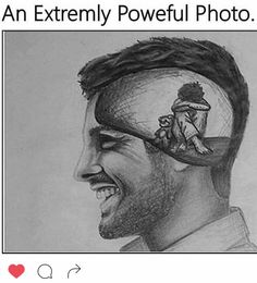 Very powerful photo of what a survivor is like. On the inside the inner child is alone and scared. On the outside all appears just fine.