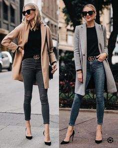 Love this camel coat with black under.