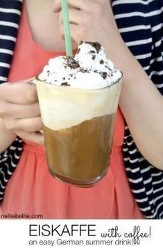 An Eiskaffee.a German coffee drink of amazingness! Only 3 ingredients.so easy and yummy! Source by happwords CLICK Image for full details Funnel Cakes, Spiced Coffee, Coffee Latte, Starbucks Coffee, Sorbet, Freeze, Biscotti, Coffee Hound, Coffee Ice Cream