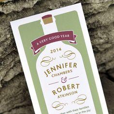 Vineyard or Pub Wedding Invitation - 'Wine Bottle' Design - One Sample £2.30