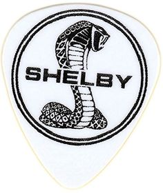 """myLife Hard """"Round Tip"""" Guitar Pick {Shelby Cobra Logo - Great for Acoustic and Electric Guitar} [Single Pick] myLife Brand Products http://www.amazon.com/dp/B00V7C7H7O/ref=cm_sw_r_pi_dp_wShfvb0B55X7G"""