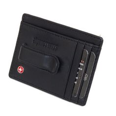 Alpine Swiss Fine Lambskin Leather Hand Crafted Men's Money Clip mini Wallet ID Credit Card Holder Front Pocket Wallet with Spring Clip - Black Comes in a Gift Bag Alpine Swiss. $10.99. Save 56% Off!