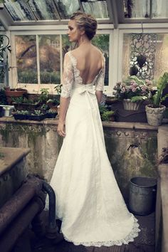 elbeth gillis wedding dresses 2014 catherine lace gown sleeves back train -- Elbeth Gillis Bridal 2014 Wedding Dresses Wedding Dresses 2014, Wedding Attire, Wedding Gowns, Wedding Vendors, Weddings, Perfect Wedding, Dream Wedding, Elegant Wedding, Ivory Lace Wedding Dress