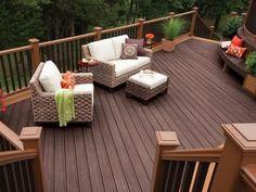 Terraza con deck