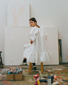 Cecilie Bahnsen Pre-Fall 2018 Collection is now available at Dover Street Market New York. Fashion Week, Look Fashion, Fashion Design, Trendy Fashion, Timeless Fashion, Daily Fashion, Fashion Fashion, Fashion Shoes, Winter Fashion