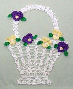 DE MIS MANOS TEJIDOS Y MAS...: Adornos para tu hogar tejidos a crochet...Free diagrams for basket,flowers and leaves!!