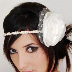 Headband Lago dos Cisnes - Preta e Branca R$35.00 @Tanlup