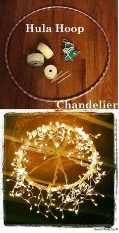 Rustic reception chandelier