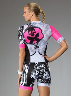 Our latest update to a Betty original combines elements of our Signature + Pucciesque designs! - BettyStyle™ RaceFlow™ luxe lite mesh fabric, quick dry technology - Body fabric is highly breathable wh Cycling Shorts, Cycling Outfit, Cycling Gear, Betty Design, Mtb Clothing, Tri Suit, Female Cyclist, Ironman, Cycling Girls