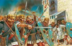 Imperial Roman Auxiliaries in Israel - art by Peter Dennis